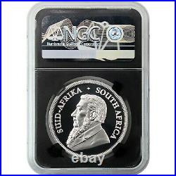 2020 South Africa Krugerrand Silver 1oz PF70 UC First Day Issue Black Core with