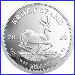 2020 South Africa Krugerrand Silver Proof 2oz Coin Box Coa Sealed