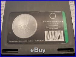 2020 South Africa Silver Krugerrand 1 oz 1 Rand BU Sealed 500 Coin Box