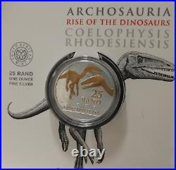 2020 South African Archosauria Dinosaurs Series 1oz Silver Gilded Edition