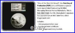 2021 SA 2oz Silver PROOF Krugerrand PF70 FDOP 1 Of First 214 Struck presale