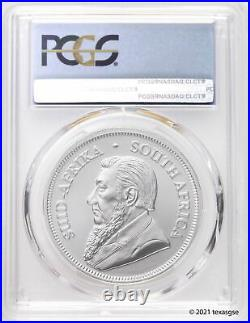 2021 South Africa 1 oz Silver Krugerrand PCGS MS70- First Day of Issue