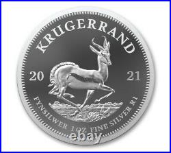 2021 South Africa 1oz Silver Krugerrand Proof NGC PF70 FR SPRINGBOK PRE-SALE 6/7