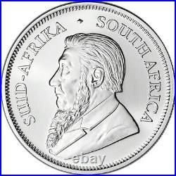 2021 South Africa Silver Krugerrand 1 oz 1 Rand BU 1 Roll Twenty Five 25 Coins