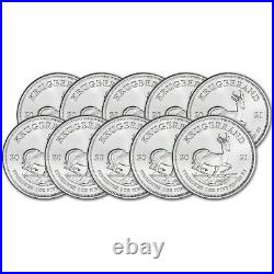 2021 South Africa Silver Krugerrand 1 oz 1 Rand BU Ten 10 Coins
