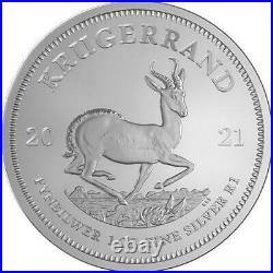 2021 South African Silver Krugerrand 1 oz Coin Lot of 100
