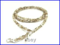 20.00 Ct Natural Brown Color Rough Diamond Beads! Diamond Beads Wt Silver Claps
