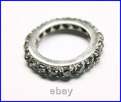 2.20ct Black Rough Diamond Eternity Ring, Uncut Raw Diamond 925 silver Ring Band