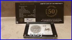 3 oz 50th Anniversary Silver Krugerrand 1 oz + 2 oz Set South Africa 2017