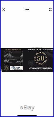 3 oz 50th Anniversary Silver Krugerrand 1 oz + 2 oz Set South Africa 2017 #4111