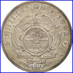 #470233 Afrique du Sud, 5 Shillings, 1892, SUP, Argent, KM8.1