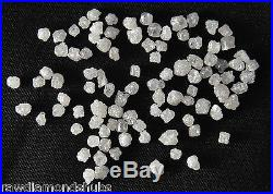 500 Pieces Loose White Silver uncut Diamonds Natural Rough Diamond 1.30-1.80mm