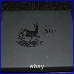 50th Anniversary Of The Krugerrand 2017 1 Oz Pure Coin & 2 Oz Pure Silver Bar