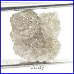 5.76 TCW Natural Diamond Silver White Rough Raw Uncut Natural Loose Diamond