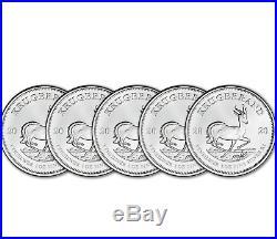 5- B. U. 2020 South African 1.00 Troy oz. 999 Silver Krugerrand In Plastic Gem BU