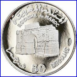 #879110 Monnaie, Maroc, Hassan II, 50 Dirhams, 1970, Proof, FDC, Argent, KMMa