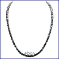 92% OFF Black Round Diamond Hip Hop Necklace Unisex Silver 925 chain with clasp