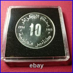 ALGÉRIE, ALGÉRIA, 10 Dinars Jugurtha 1994 argent/silver