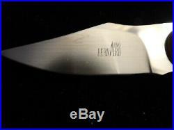 ARNO BERNARD JR. CUSTOM FIXED BLADE KNIFE WithSHEATH, MINT