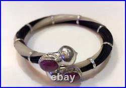 Africa original bangle ruby stone bangle silver 925 elephant tails bracelet ban
