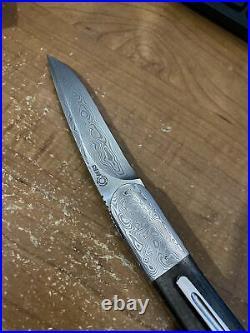 Andre Thorburn Custom Model L28M Front Flipper Damasteel Carbon Fiber Titanium