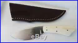 Arno Bernard N690 Steel Bone Handle With Original Leather Sheath