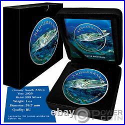 BARRACUDA Ocean Giants Krugerrand 1 Oz Silver Coin 1 Rand South Africa 2020