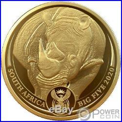 BIG FIVE Privy Rhino Krugerrand Set 2x1 Oz Gold Coins 51 Rand South Africa 2020