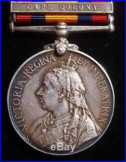 BRITISH EMPIRE Queen Victoria South Africa Silver Medal 1899-1902 CAPE COLONY