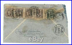 China 1949 Oct. 29 Air Mail Letter Silver Yuan 124c Kunming to South Africa