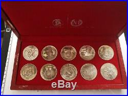Coffret 10 Monnaies 1 DINARD ARGENT TUNISIE HABIB BOURGUIBA PRESIDENT 1969