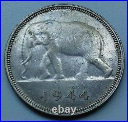 Congo Belge. Belgisch Congo 50 Francs Silver/argent 1944 RARE