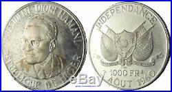 Essai Niger Diori Hamani 1000 Francs Argent 1960 Proof