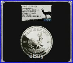 First Ever 2020 2-oz Silver Krugerrand NGC Proof 70 ultra cameo FDP