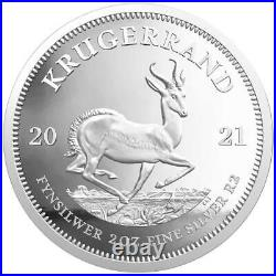 KRUGERRAND 2021 2 oz 2 Rand Pure Silver Proof Coin in Box South Africa