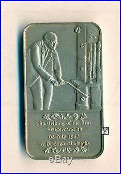 Krugerrand 40year Ann. 1967-2007 22carat Gold Coins & Silver Medallion Set(OOAK)