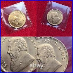 Krugerrand Rare 1980 South African 1oz Solid 22ct Yellow Gold Coin