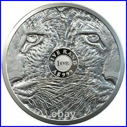 LEOPARD big Five 1 oz Silver coin South Africa 2020