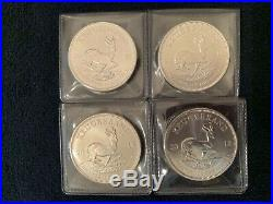 Lot Of 4/2018 South Africa Silver Krugerrand 1 Oz. 999 In Protective Coin Flips