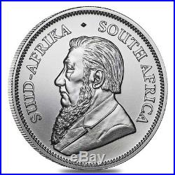 Lot of 100 2018 South Africa 1 oz Silver Krugerrand BU (4 Tube, Lot of 25)
