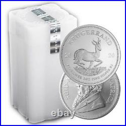 Lot of 100 2020 South Africa Silver Krugerrand 1 oz Brilliant Uncirculated