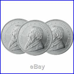 Lot of 3 2020 South Africa Silver Krugerrand 1 oz Brilliant Uncirculated