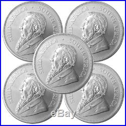 Lot of 5 2019 South Africa Silver Krugerrand 1 oz Brilliant Uncirculated