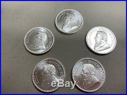 Lot of 5 2020 South Africa Silver Krugerrand 1 oz Brilliant Uncirculated