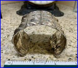 Lqqk! (rare) Exceptional Patrick Mavros Sterling Silver Croc Hornback Large Cuff