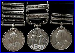 Medal Group Boer War India, King&Queens South Africa -pte Burgin, Great Britain