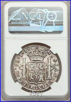 Mexico 1801 Spanish Colonial 8 Reales Carolus IIII Charles IV NGC-AU58 Peru Lima