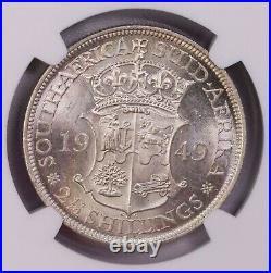 Ngc-ms63 1948/1949 South Africa 2-1/2shillings Silver 2pcs Lot Key Date Bu