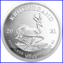 Proof Krugerrand 2021 1 OZ Silver South Africa with certificate and Box