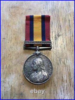 QUEENS South Africa Cape Colony Silver Medal L. N. Lang Regt